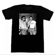 Michael Jackson & Freddie Mercury  T-shirt Queen Pop LGBT Stranger Things Design T Shirt 2018 New Basic Tops