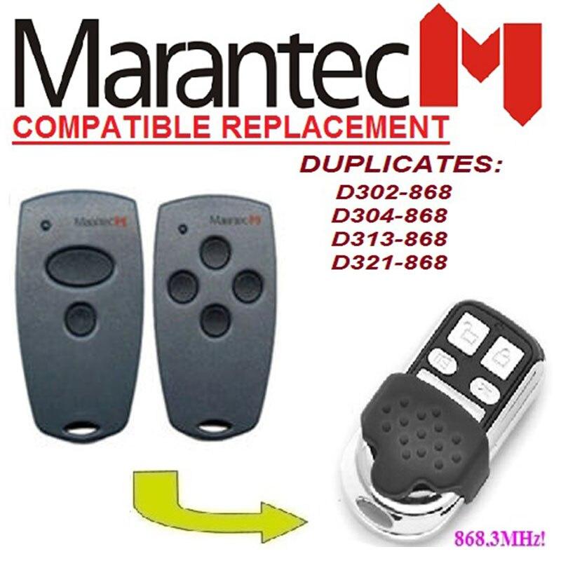 Télécommande pour Marantec D302-868, D304-868 duplicateur fixe code porte de garage à distance 868 mhz.