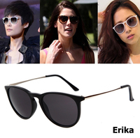 2016 New Fashion Women Oval Style Erika Velet Sunglasses Vintage Brand Designer Cat Eye Sun Glasses
