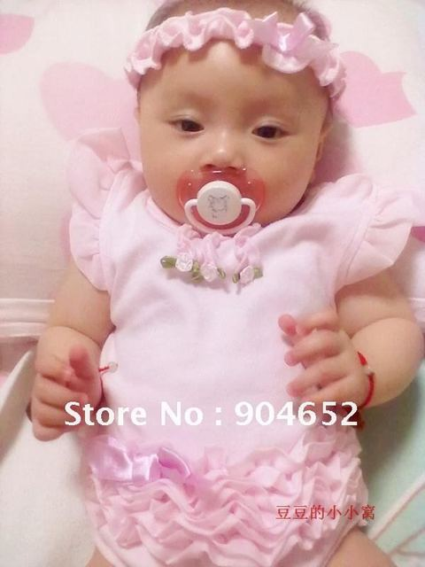 wholesale 2012 branded new baby girl's pink tutu petti romper & headband 2pc set; newborn gift set free shipping