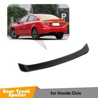 Glossy black Rear Boot Wing Lip Spoiler For Honda Civic 2012 2015 4 door Sedan Car Accessories
