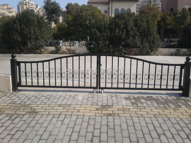 Wrought Iron Gate For Auto Parking Place