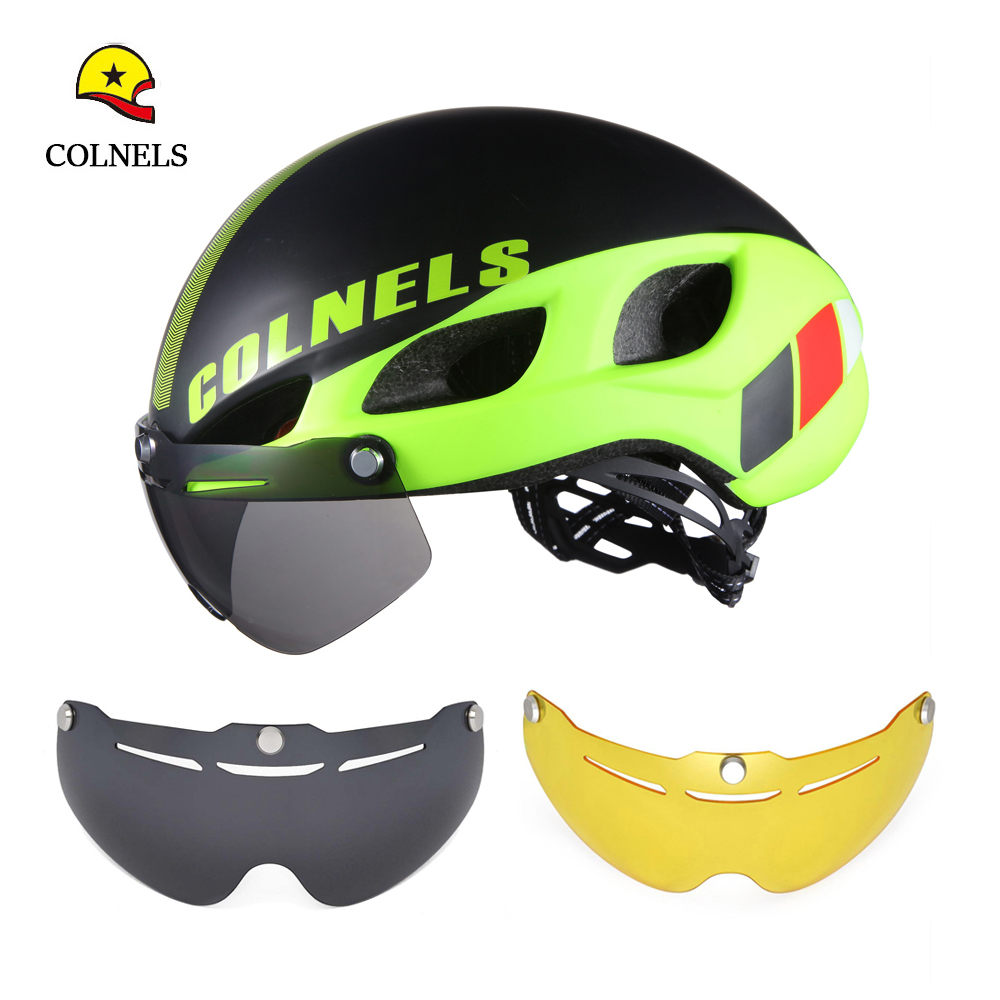 Prix pour 2016 colnels deux lunettes de soleil bicicleta vélo casque casco ciclismo route vélo casque l/m taille hommes et femmes en plein air vélo casque