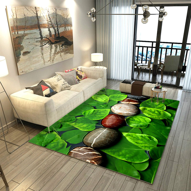 US $50 49 32% OFF|Nature Green 3D Effect Carpet High Quality Pastoralism  Rugs Parlor Bedroom Outdoor Floor Mat Soft Anti slip Bedside Blanket-in