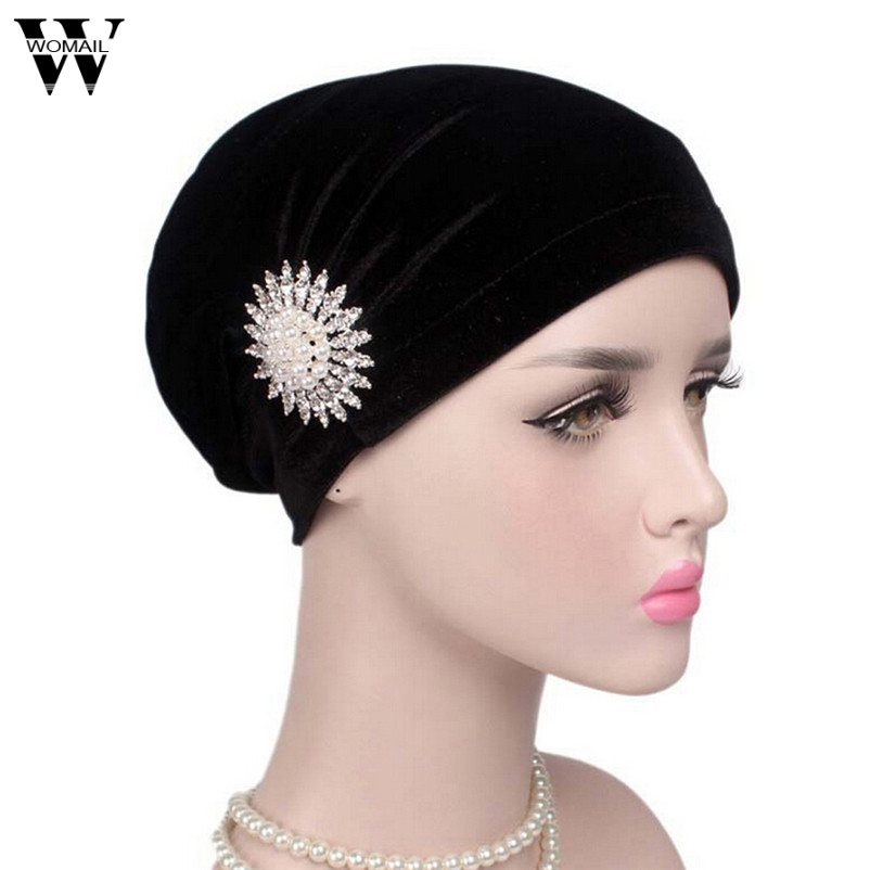 WOMAIL Good Deal 2017 Fashion Caps Women Hat Bowknot Cancer Chemo Hat Beanie Scarf Turban Head Wrap Cap  Drop Shipping hot sale men canvas waist packs army green solid phone bag hip belt portable man wallet purse case pouch waist bags 2017