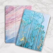 Мраморный чехол для iPad кожаный силиконовый чехол для iPad Air 2 1 Pro 10,5 Авто сон/Пробуждение Coque для Funda iPad 234
