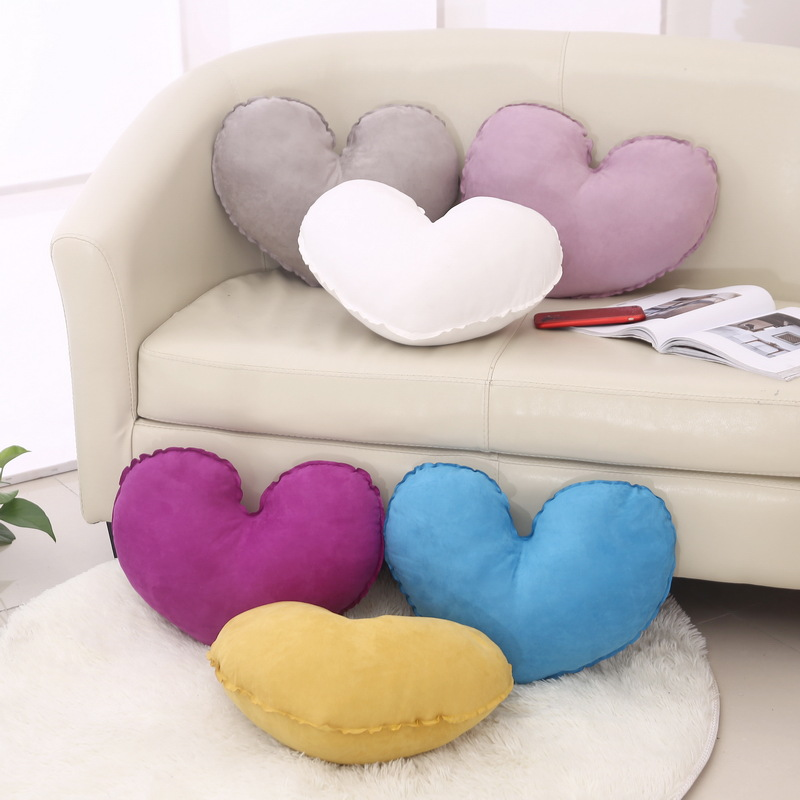 LEMOR Ins hot Heart Seat Back Cushion For Car Seats Pillows Baby Shower Gift Plush Toys Decorative Sofa Bedding Cushions