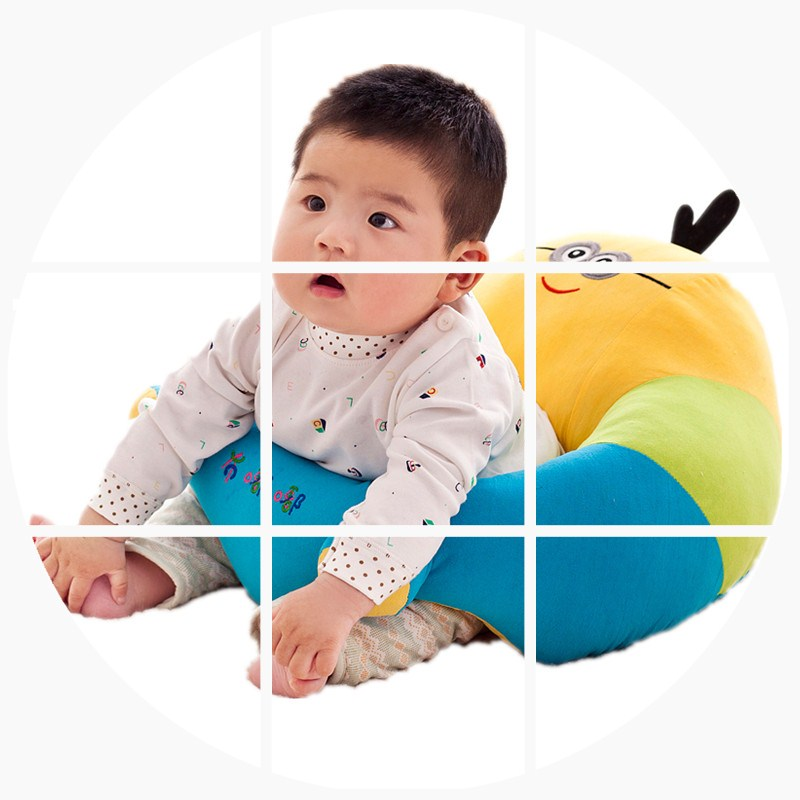 Детское безопасное сиденье от переворачивания, портативное Хипсит (пояс для ношения ребенка), детский маленький диван, мультяшное плюшевое кормление грудью, подушка учится сидеть на диване - 3