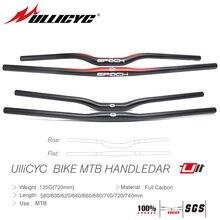 Ullicyc MTB Bicycle Handlebar Carbon friber Flat or Rise Handlebar Mountain bike parts31.8*580/600/620/640/660/680/700/720/740mm цена