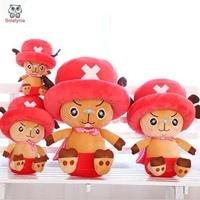 BOLAFYNIA niños Peluches Chopper Luffy muñeca de dibujos animados para el bebé regalo de cumpleaños de Peluche de juguete