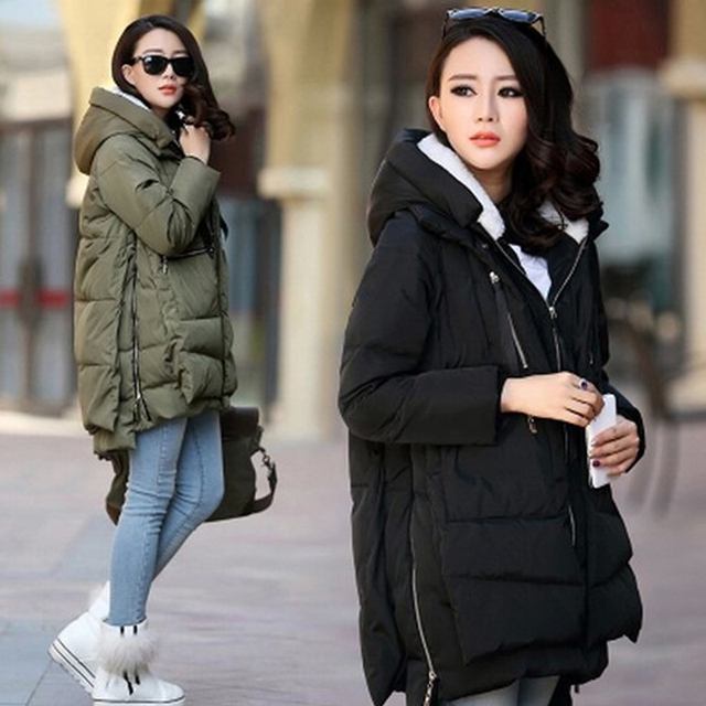Women/Lady Winter Down Coat Padded Jacket Hooded Long Thick Zip ...