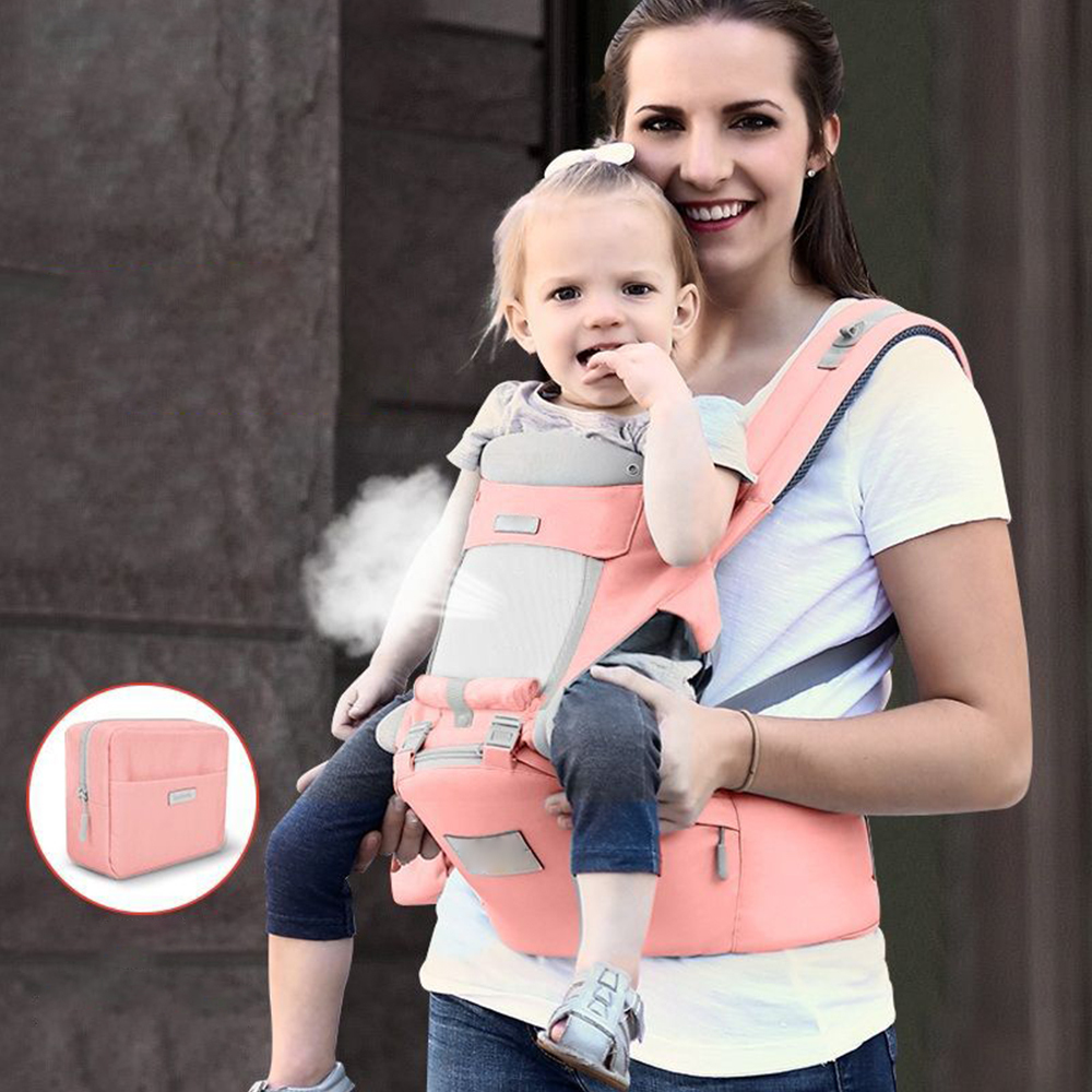 Multi-Function Baby Stool Bag Hip Seat Carrier Waist Stool Comfortable Breathable Infant Baby Waist Stool With Adjustable Strap