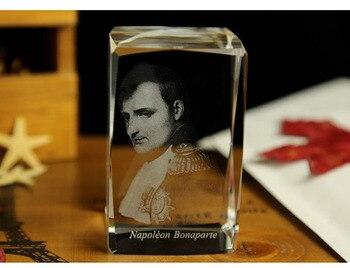 OFFICE HOME best gift limited edition art Decor 3D Napoleon Bonaparte Crystal Image Decoration