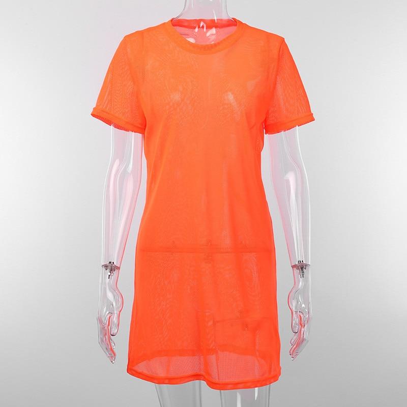 mesh loose mini dress10