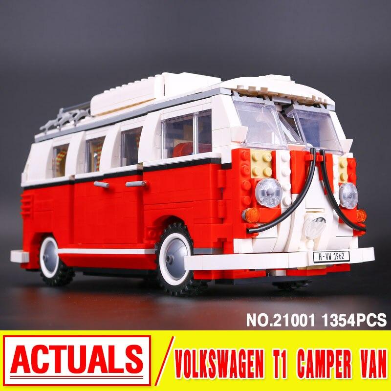ФОТО Lepin 21001 figures Classic Create Volkswagen T1 Camper Van 10220 Building Blocks Model Toys For Children  car