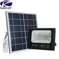 60W Solar Rechargeable LED Floodlight Spotlight Solar Garden Aisle Street Flood light Wall lamp With Night Sensor Remote Control