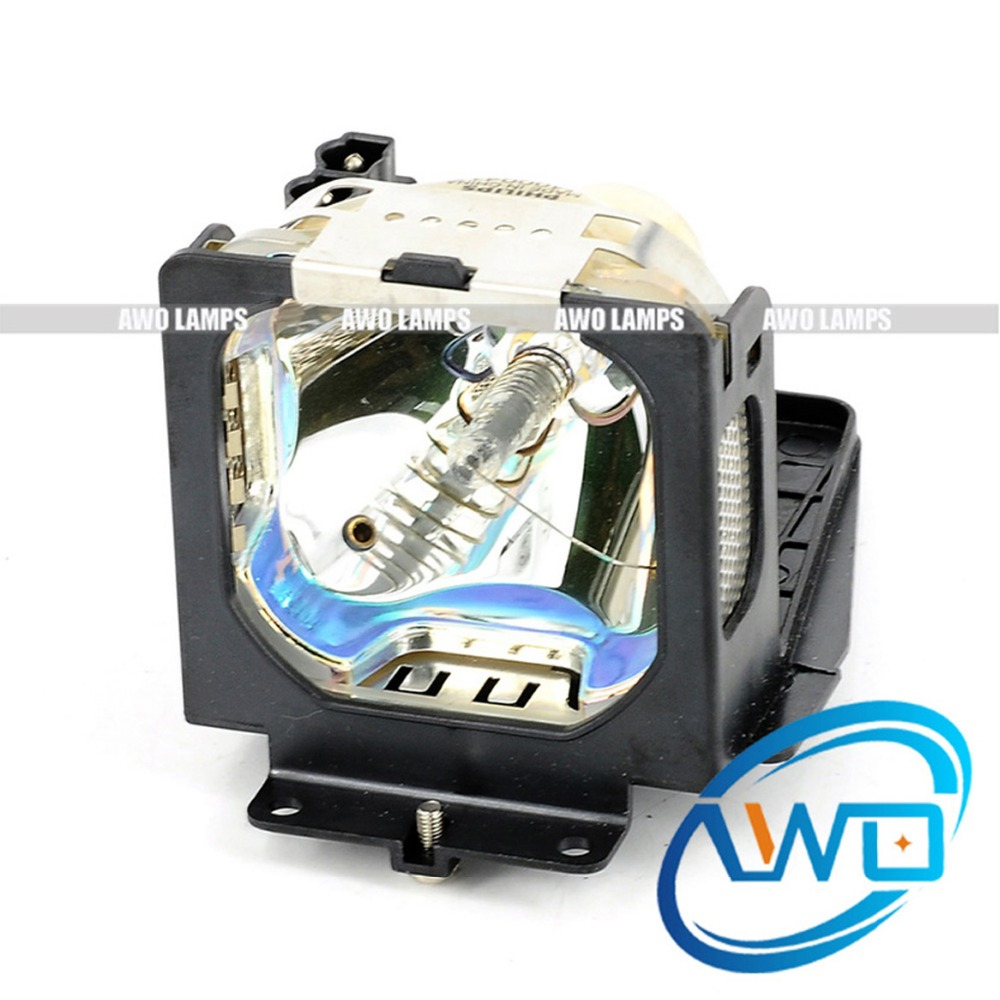 AWO Original Projector Lamp LV-LP15 with Housing for CANON LV-X2 Projector 180 Day Warranty pureglare original projector lamp for canon lv lp24 0942b001aa with housing