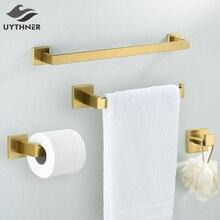 Набор аксессуаров для ванной, черный крючок для халата, вешалка для полотенец, барная полка, держатель для бумажной ткани, держатель для зубной щетки, аксессуары для ванной комнаты