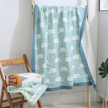 New arrival 120*150cm 4 and 6 layers washed cotton muslin blanket receiving blankets for newborn baby sleeping blanket