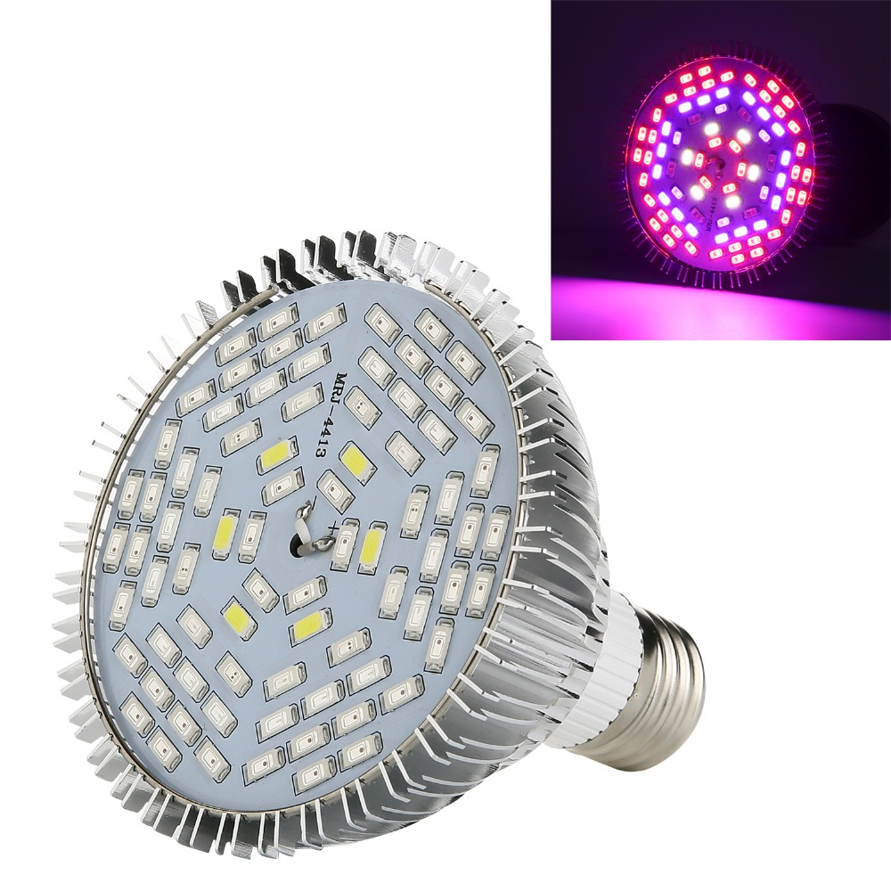 Lmco полный спектр привело светать красный + синий + UV + IR + белый AC85-265V E27 LED завод Лампы для мотоциклов для гидропоники овощи цветущих растений