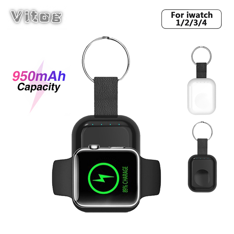 Wireless Charger Power Bank for i Watch 1 2 3 4 Portable Mini Wireless Charger External Battery Pack KeyChain for Apple Watch in Mobile Phone Chargers from Cellphones Telecommunications