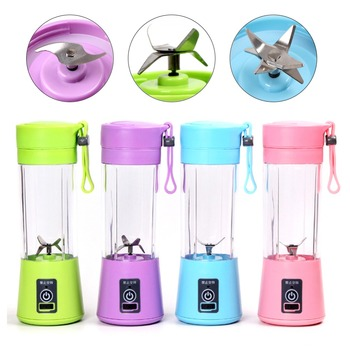 400ml usb portable juice blender and personal juicer cup and multi-function fruit mixer