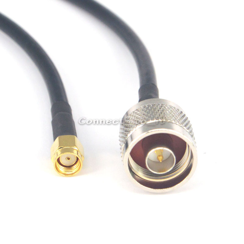 10 Pieces Extension Cable N Male to RP SMA Male Hole in center RF Coax Connector