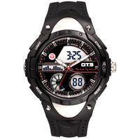 OTS 8061 Large Military Men S Sports Fashion Leather Watch Waterproof Digital Watch Compass Outdoor Sports