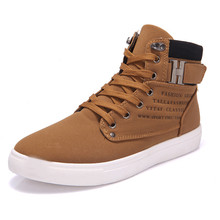 2016 Brown Retro Men Autumn Boots High Quality Suede Winter Boots Ankle High Top Plus Size 39-46, Nubuck Leather X933 35