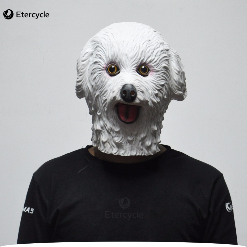 aliexpress : buy halloween masks white teddy dog latex animal