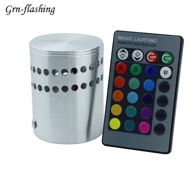 3w Novelty Color-changing Rgb Led Wall Light Decoration With Controller Indoor Projector Ktv Living Room Bedroom Decoration Home