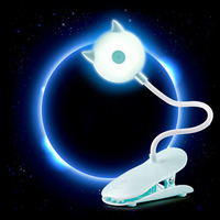 Cute Clip Lamp USB Charge Desk Lamp Eye Protection Energy Saving LED Touch Dimming Table Lamp