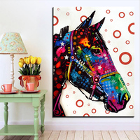 Grote maat Print Olieverf Muur schilderen Paard Pop art Decoratieve Muur Foto Voor Woonkamer paintng Geen Frame