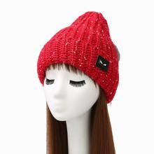 Warm Stylish Ladies Woman Knitted Crochet Beanie Winter PomPom Hat Cap
