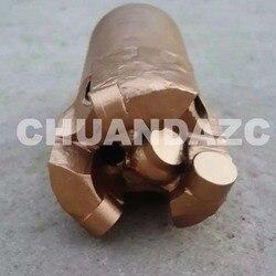 Broca de perforación de pozos de agua con 3 Alas de 56mm, broca de carburo de tungsteno PDC