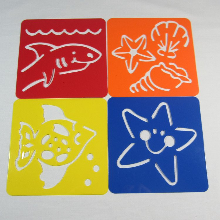 ocean animal stencilbirthday giftchristmas giftsummer craftskids drawing stencilsearly educatioanl toys in drawing toys from toys hobbies on