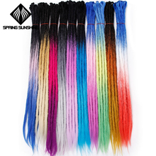 Синтетические светлые дреды дюймов 24 дюймов ручной работы дреды расширения регги вязаный крючком хип-хоп дредвязаный крючком плетение волос