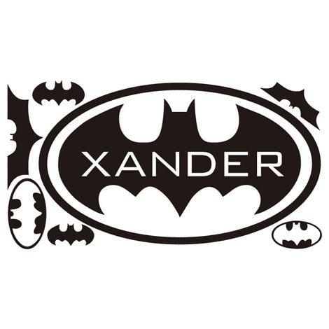 Online Shop New Design Batman Logo Wall Stickers For Kids Room