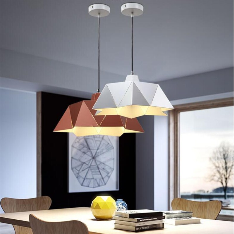 Northern Europe Modern Creative Concise Art Fashion Geometry Pendant Lamp Cafe Restaurant Parlor Decoration Lamp Free Shipping northern europe creative style vintage rectangle crystal pendant light parlor light dining room decoration lamp free shipping