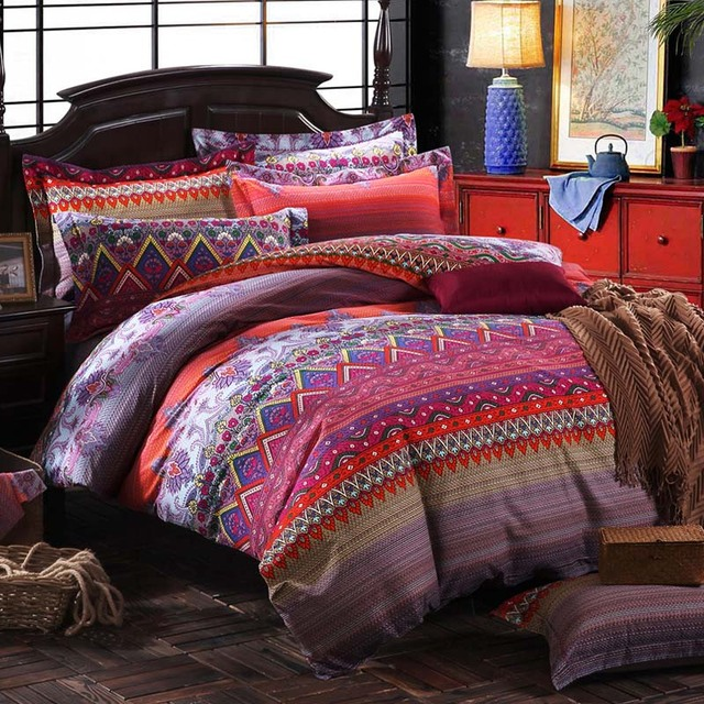 2017 Hot Sale Tang Dynasty Bedding Set Chinese Wind Bed Linens Bed Sheet Set  Bedclothes Queen