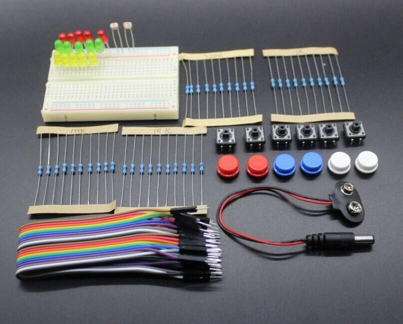 Free Shipping new Starter Kit for ardu uno r3 mini Breadboard LED jumper wire button