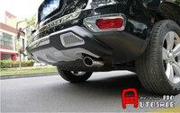 Para jeep compass 2011 2015 inoxidável silenciador de escape traseiro ponta tubo de extremidade 1 pces|Estilo de cromo|   -