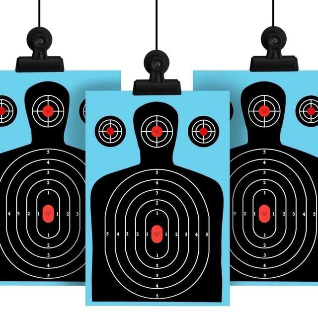 5Pack//Set Reactive Splatter Targets Gun Rifle Shooting Glow Shot Training Paper