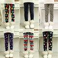 Chegam novas de inverno das meninas leggings, infantil 3-9 Y Calça Quente Todo o Jogo Leggings De Lã de espessamento das Crianças Calças grossas