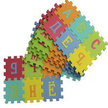 36Pcs 12CM*12CM Environmentally EVA Foam puzzle Numbers+Letters Play Mat Puzzle Floor Mats Baby Carpet Pad Toys For Kids 36pcs baby floor foam puzzle mat crawling play pad carpet yh 17