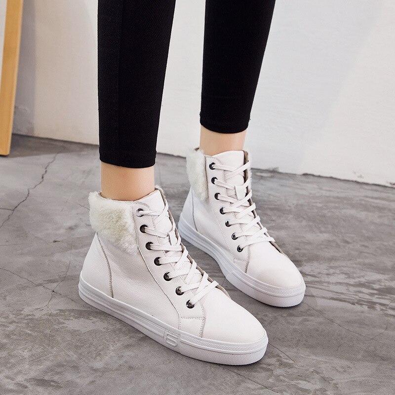 Señora Piel Marca Con blanco Negro Real Sneaker Calzado Blanco Plataforma Jookrrix Zapatos Chaussure Negro Mujer Cuero Moda High De Top 6nPxUO