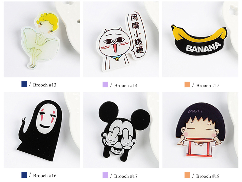 1e1578974 5pcs/lot Funny Cartoon Set Brooches Cool brooches pins for women men ...