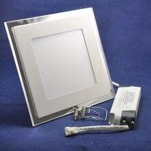 5 шт./лот новый 20 Вт AC85-265V синий + белый, Синий + теплый белый двухцветный квадратную форму потолка Ultral тонкий из светодиодов панель