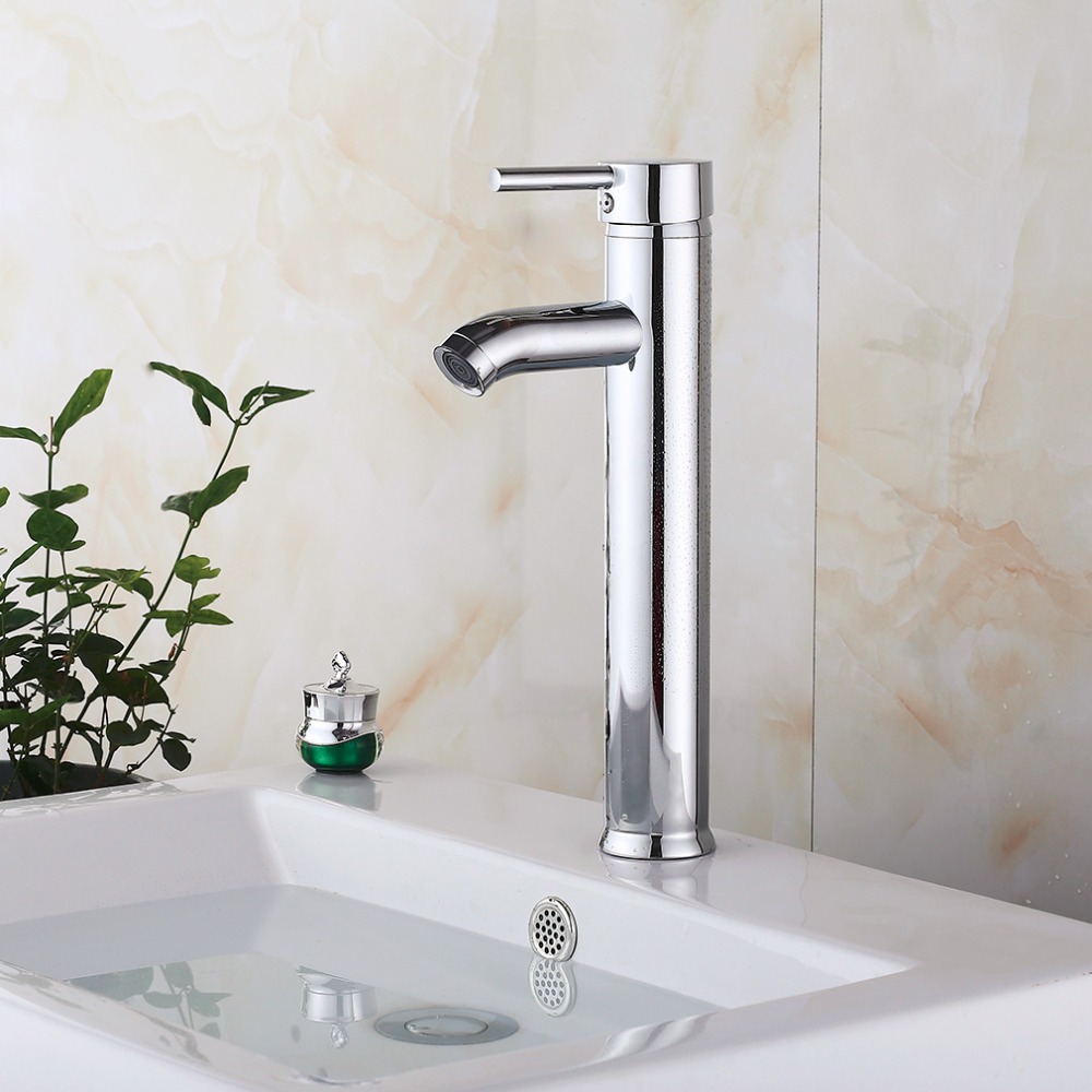 Aliexpress.com : Buy High Quality 12 Inch Tall Kitchen/Bathroom Vessel Sink  Faucet One Hole/Handle Faucet Mixer Tap Single Lever Solid Brass Faucet  From ...