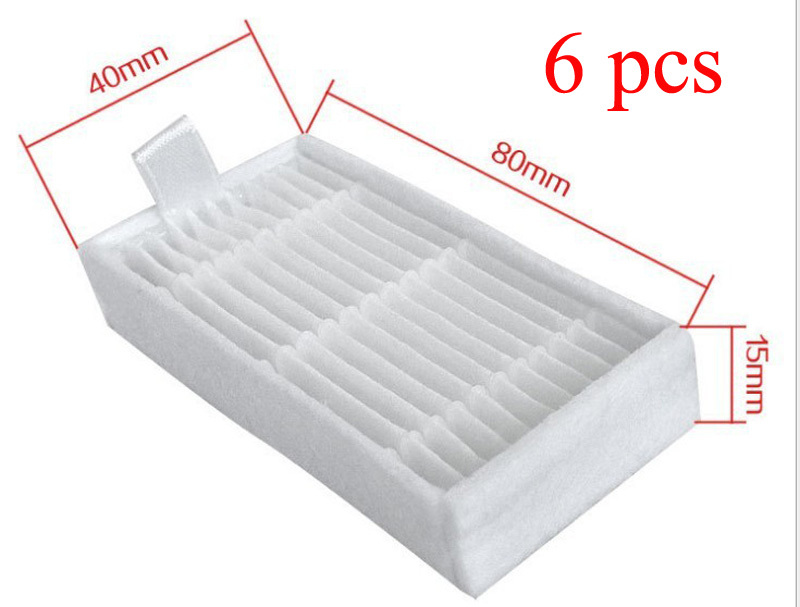 6 Hepa Filter for Panda X500 ECOVACS X500 X600 CR120 Vacuum Cleaner parts replacement
